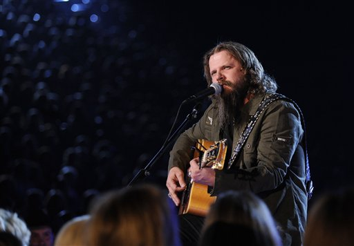 Jamey Johnson performing at the ACMAs